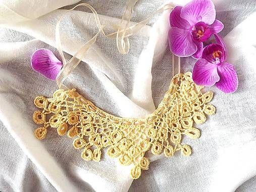 Zuy / Háčkovaný náhrdelník Béžovka