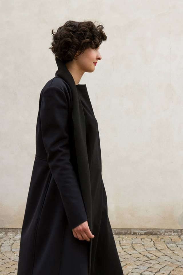 COAL / softshell collection/ coat no 01. black soft-shell coat , Fall/ Winter