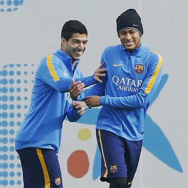 Neymar at training today