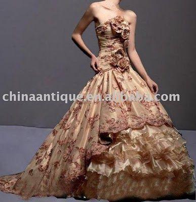 Algunos vestidos de novia extravagantes.