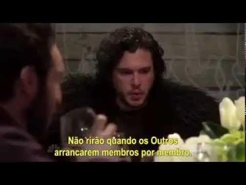 Talk show faz paródia de jantar com Jon Snow de Game of Thrones - YouTube