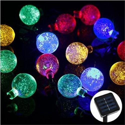 6 M 30 LED cristal boule solaire en plein air jeu de lumières pour l'extérieur jardin Patio Party des fêtes de noël décoration lumières dans Guirlandes LED de Lumière et éclairage sur AliExpress.com | Alibaba Group