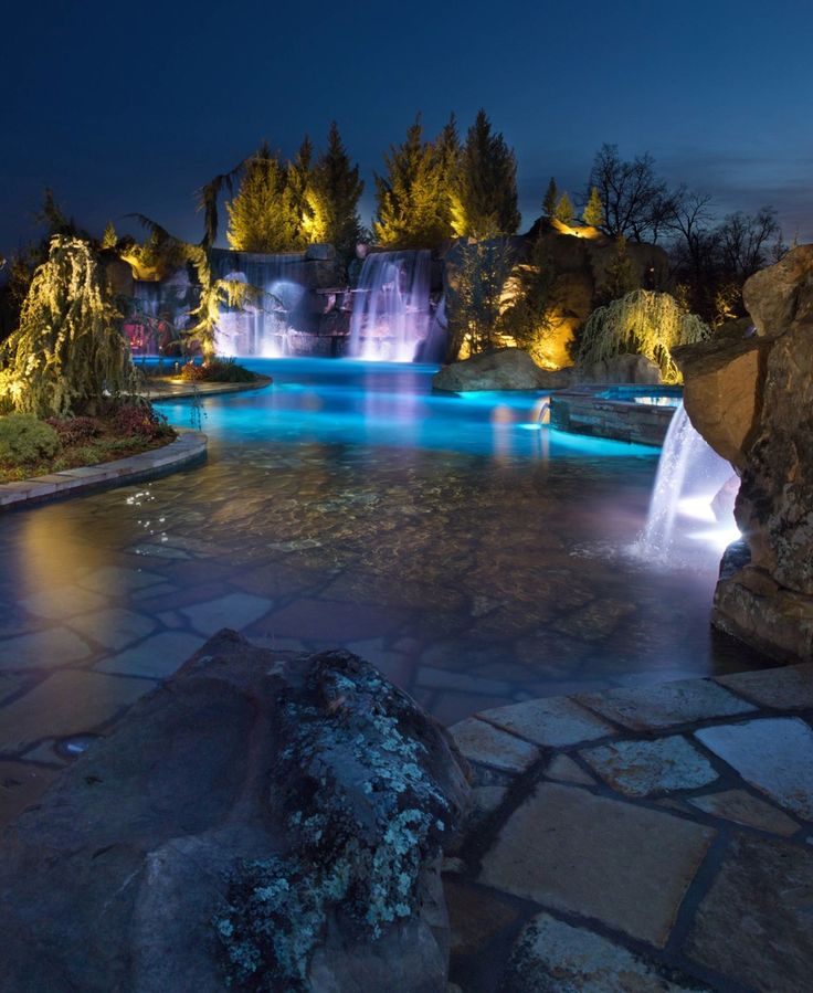 Luxury House Pool With Waterfall And Slides: 17 Best Images About Dreaming, Pools On Pinterest