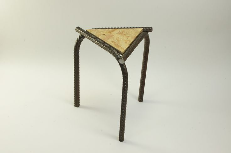 tabouret osb et fer b ton j r mie duprey http www. Black Bedroom Furniture Sets. Home Design Ideas