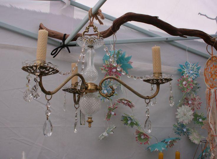 Recreated chandelier.