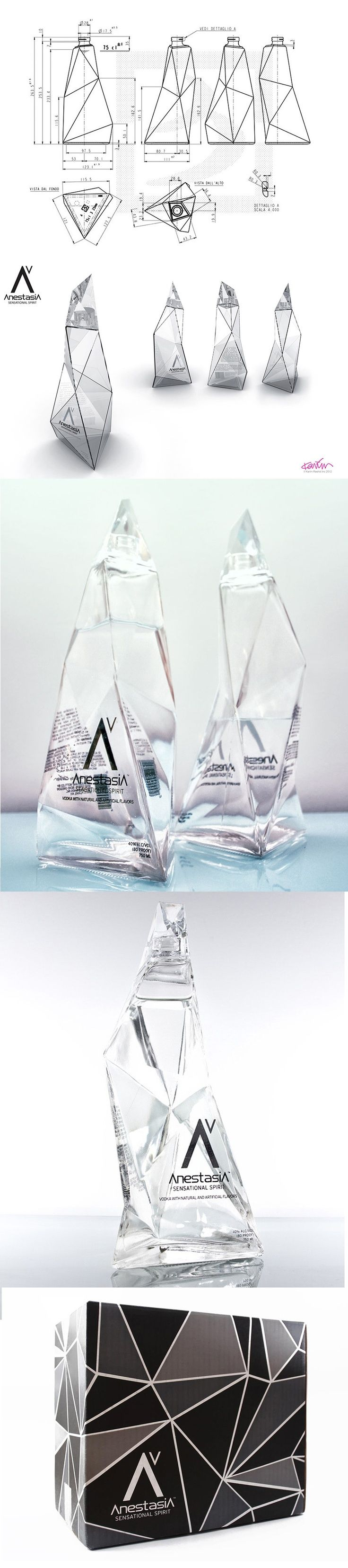 If It's Hip, It's Here: A Great Bottle Design by Karim Rashid and Fabulous Brand Imagery For One Weird Vodka: AnestasiA Sensational Spirit..