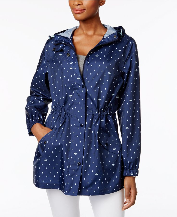 $35.99 Charter Club Packable Rain Jacket, Only at Macy's - Jackets - Women - Macy's