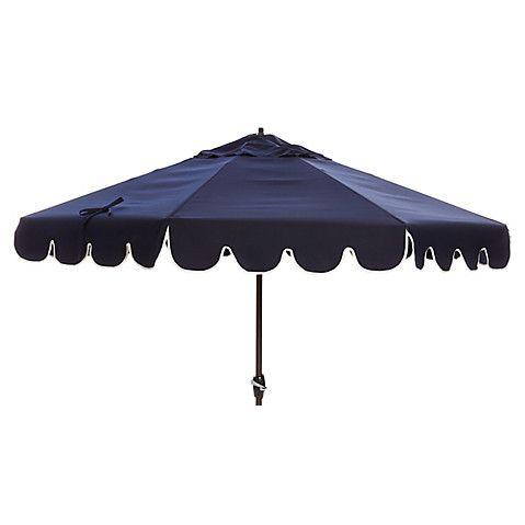 phoebe scallopedge patio umbrella navy