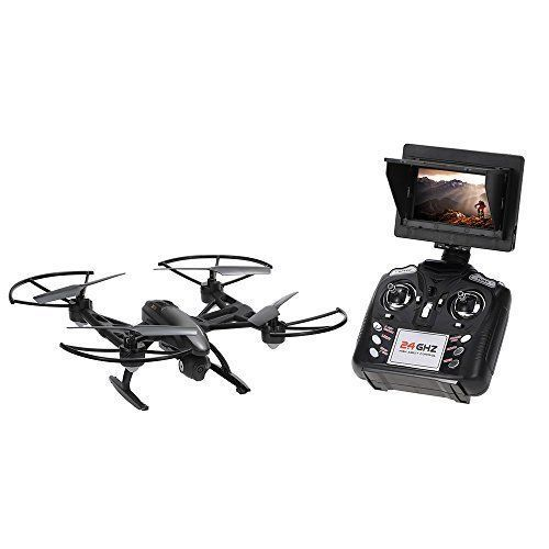 FPV Drone HD Camera Quadcopter LED Light CF Mode LCD Screen RC 2.4GHz 4CH 6 Axis #FPVDrone