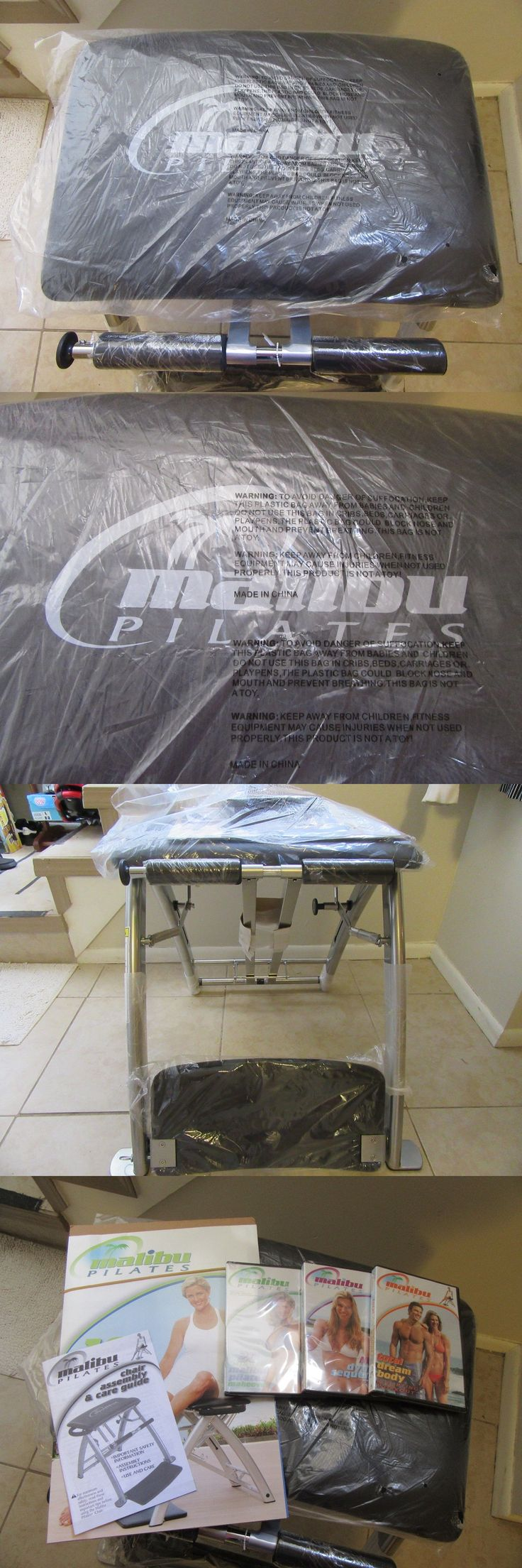 Pilates tables 179807 new malibu pilates exercise chair workout yoga fitness dvd s and