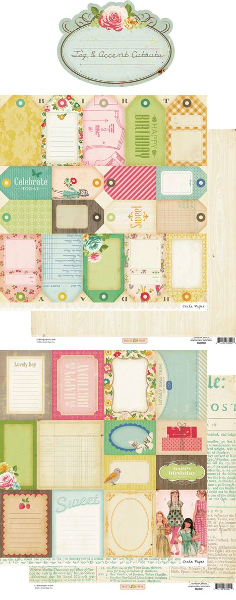 Crate Paper Pretty Party tag and accent cutouts