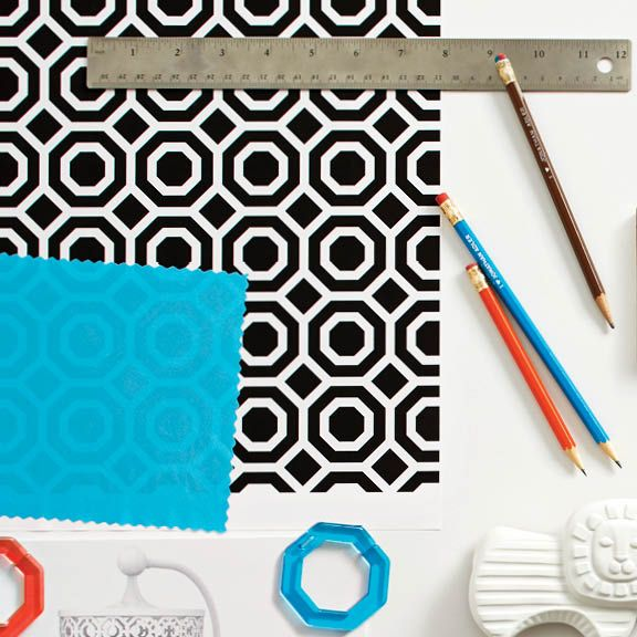 """""""I took the best parts of Fisher-Price products and combined them with new materials like wood, matte finishes, and some of my favourite patterns and colours. The result is the perfect blend of what we both do best. -- Jonathan Adler"""
