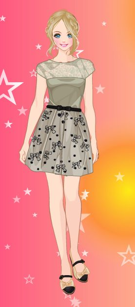 Online dress-up games - As a lady