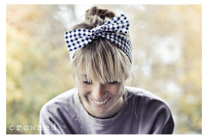 Fabric Hair Tie - Checked by Crowned