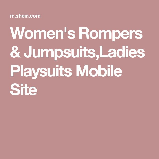Women's Rompers & Jumpsuits,Ladies Playsuits Mobile Site