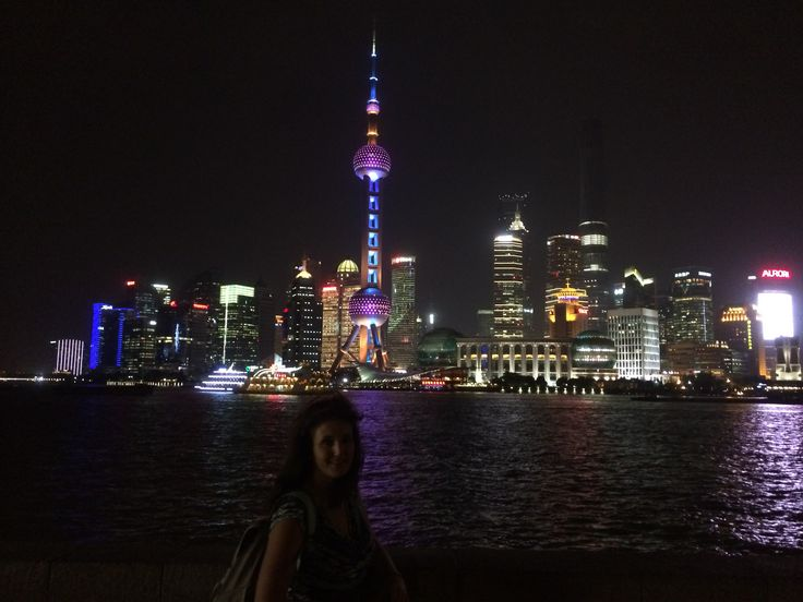 Nighttime in Shanghai! It's like a classier Vegas. :)
