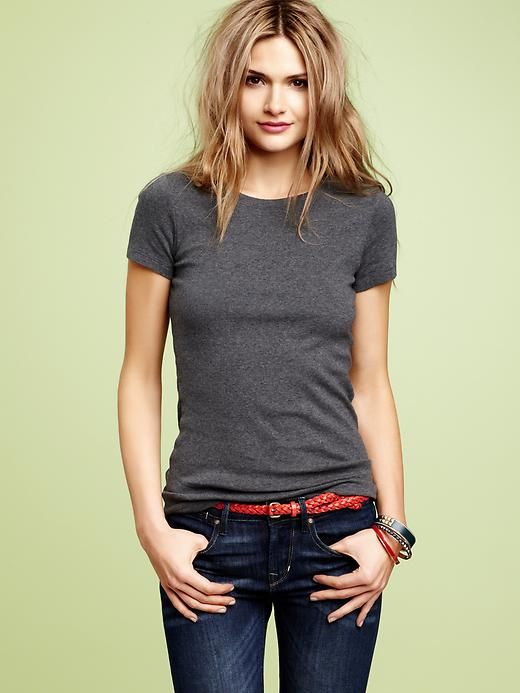 I love the t-shirt and jeans look