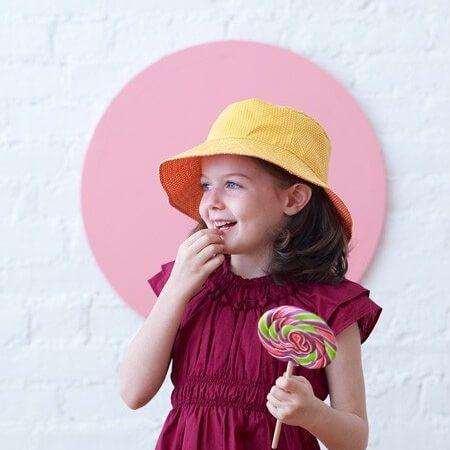 Nähe einen einfachen Sonnenhut für Kinder von 6 Monaten bis 8 Jahre - Freebook ❤ DIY - selber nähen ✂ Nähtalente.de - Magazin für kostenlose Schnittmuster ✂