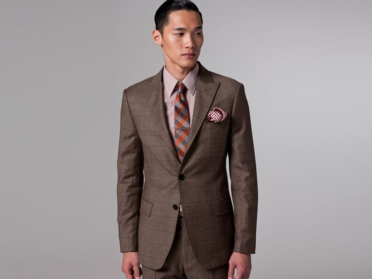 The Dark Tan Shadow Plaid Suit