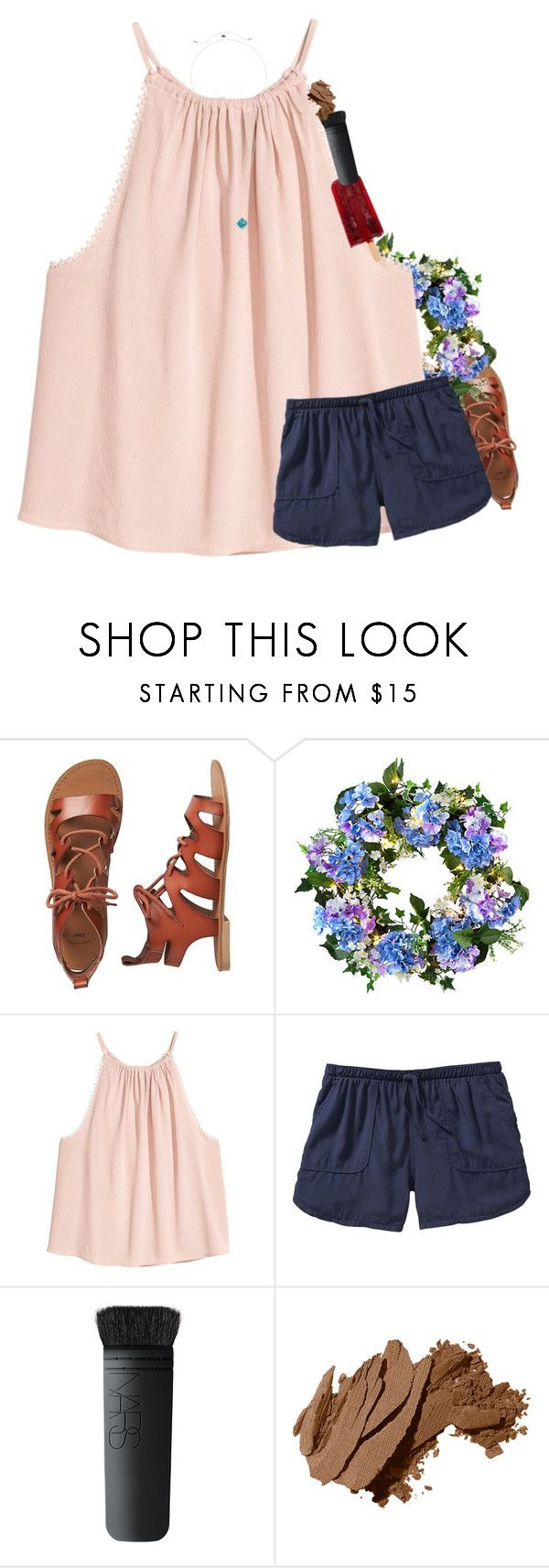 """""""Comment if I can raid"""" by mac-moses ❤ liked on Polyvore featuring Gap, Improvements, Old Navy, NARS Cosmetics, Bobbi Brown Cosmetics and Kendra Scott"""
