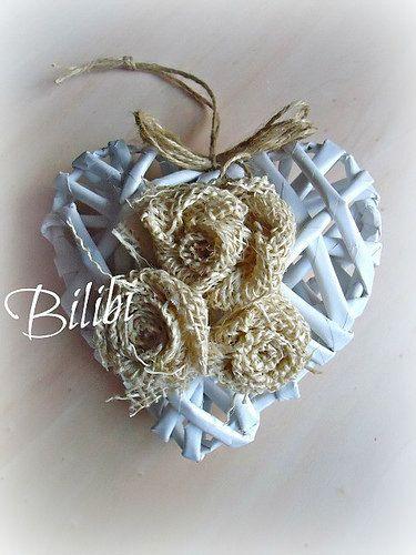 cuore con fiori di juta | Flickr - Photo Sharing!