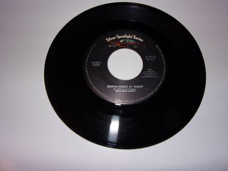 "45"" Corey Hart: Sunglasses At Night / Never Surrender / 1980's / NM #1980sPopRockSingerSongwriter"