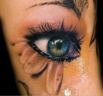 Opening Eye 3D Tattoos ~I've never been keen on eye tattoos, but I like this one. It's different.~