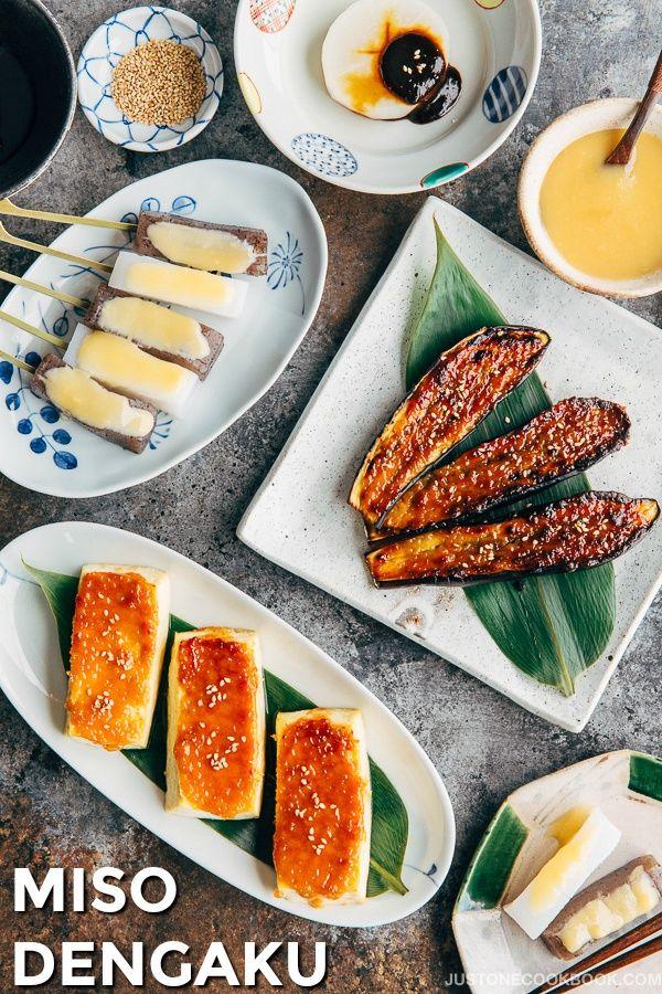 Miso Dengaku with Tofu, Eggplants, Daikon & Konnyaku (豆腐・ナス・大根・こんにゃくの味噌田楽)   Easy Japanese Recipes at JustOneCookbook.com