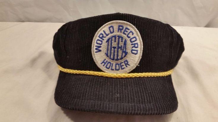 International Game Fish Association World Record Holder Corduroy Baseball Cap #InternationalGameFishAssociation