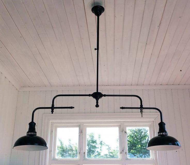 Lampa Retro Svart, Dubbel