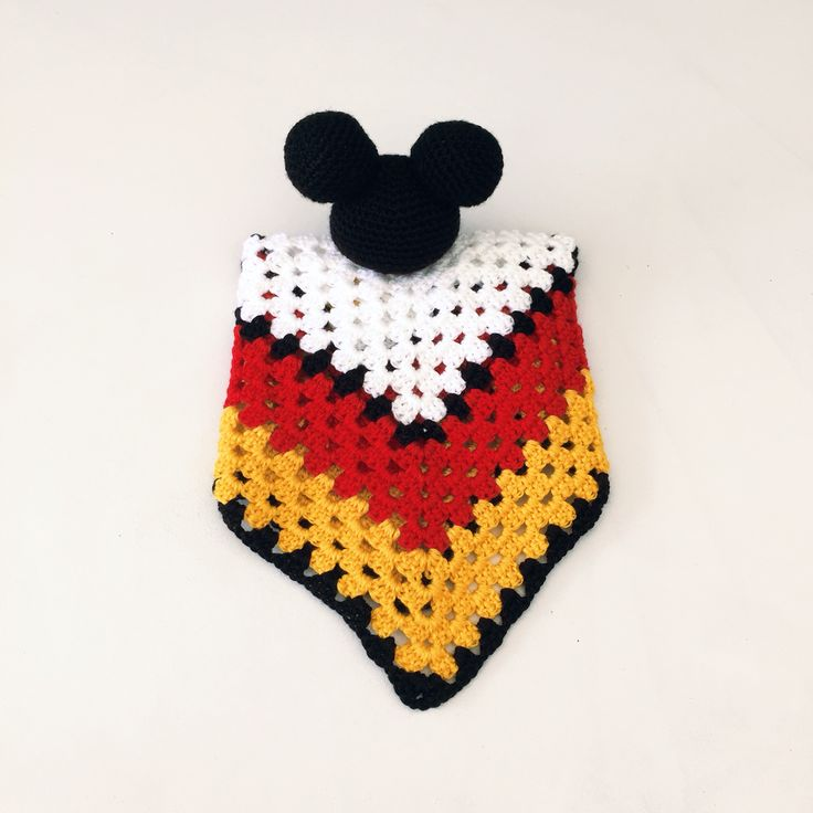 Crochet Mickey Mouse security cuddle blankee / lovey for sale at www.ks-handmade.com