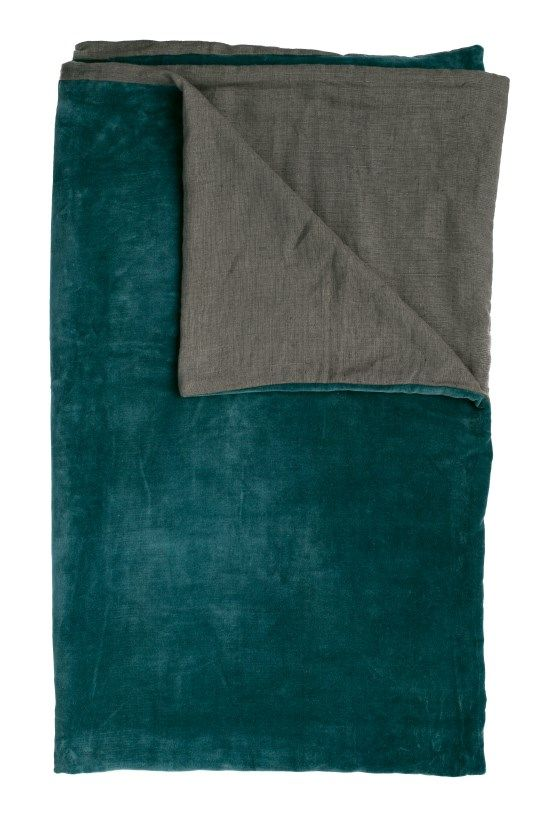 Liberte throw in Charcoal/Ocean, $299.95, Eadie Lifestyle