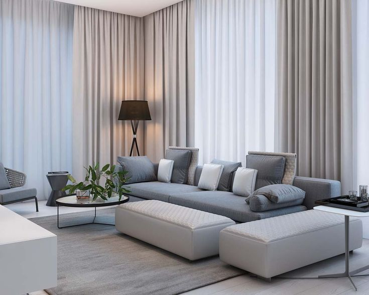 modern living room with pastel color
