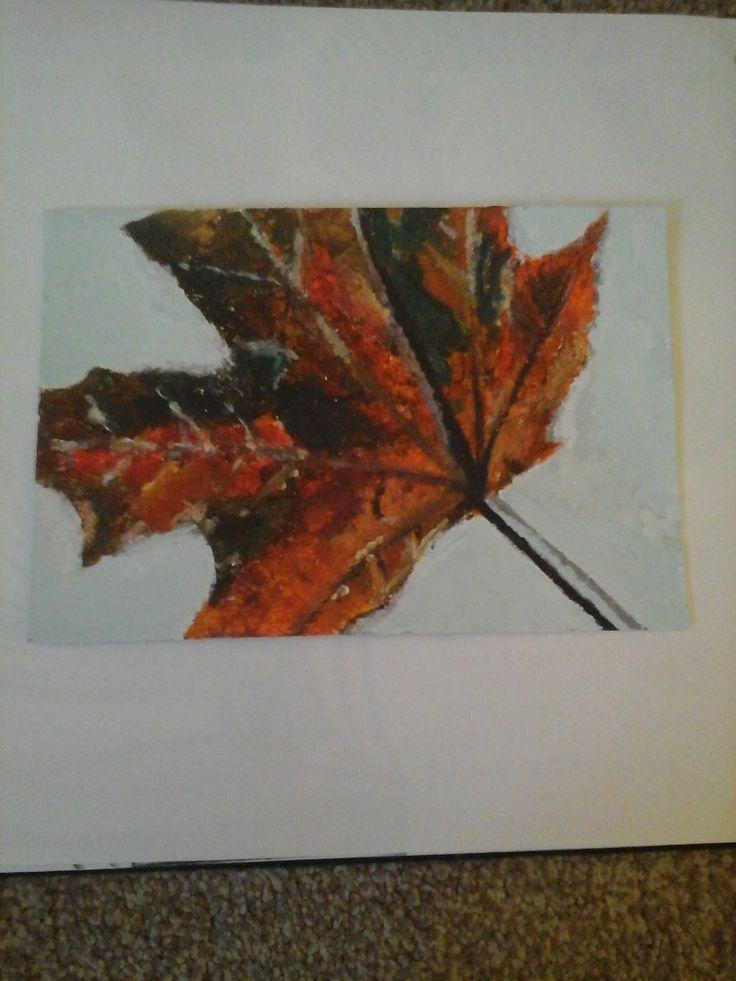 leaf in acrylic