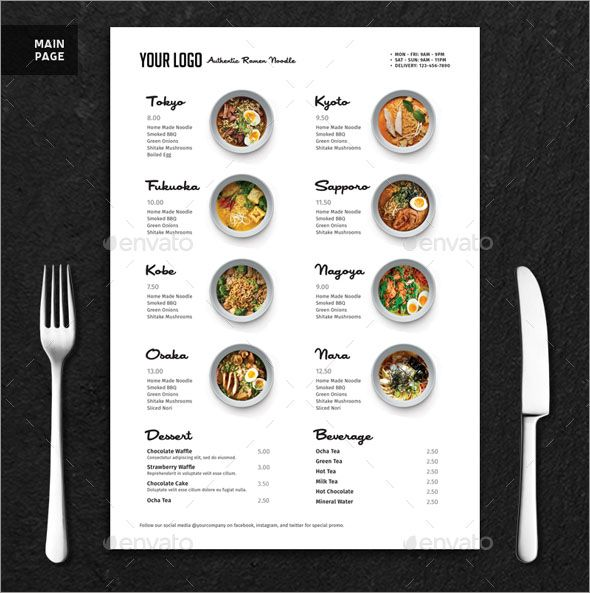 Minimalist Ramen Rice Bowl Menu Restaurant Menu Mockup Free Download Restaurant Mockup Psd Free A4 Menu Mockup Rest Menu Restaurant Menu Mockup Menu Design