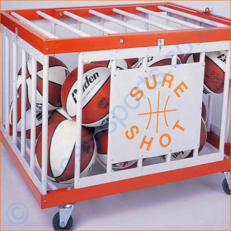 Wheeled 24 x ball lockable basketball ball storage box.