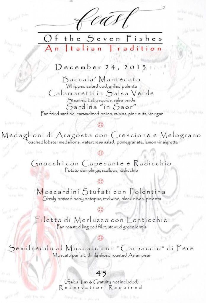 Feast of seven fishes menu feast of seven fishes xmas for Fish district menu