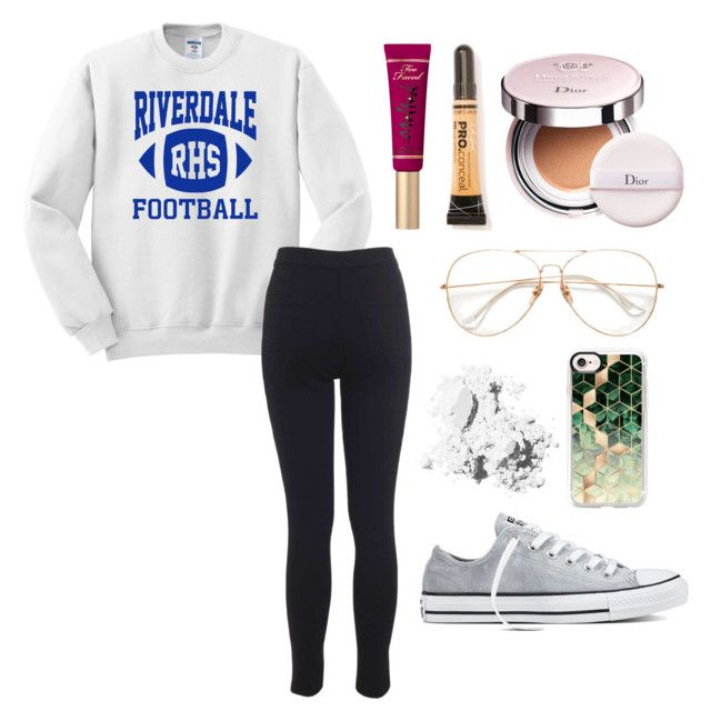 """Season 2 coming out in October!"" by alyssa-wilsonn ❤ liked on Polyvore featuring Miss Selfridge, Christian Dior, Converse, L.A. Girl, Bobbi Brown Cosmetics and Casetify"