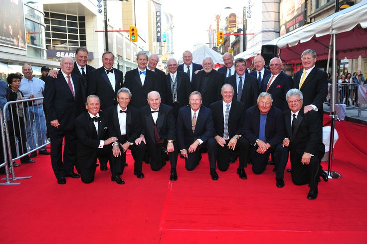 Team Canada 1972 on the 2012 Canada's Walk of Fame Red Carpet.
