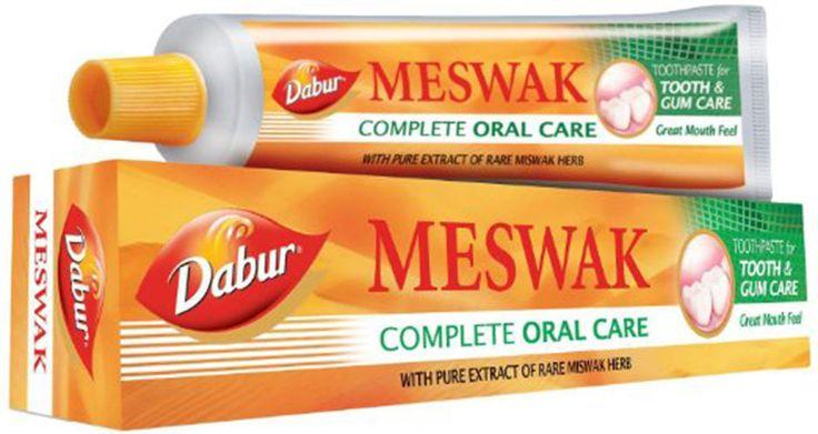 5 X Dabur Meswak Tooth Paste 100gm Ayurvedic extract of Miswak plant #Dabur