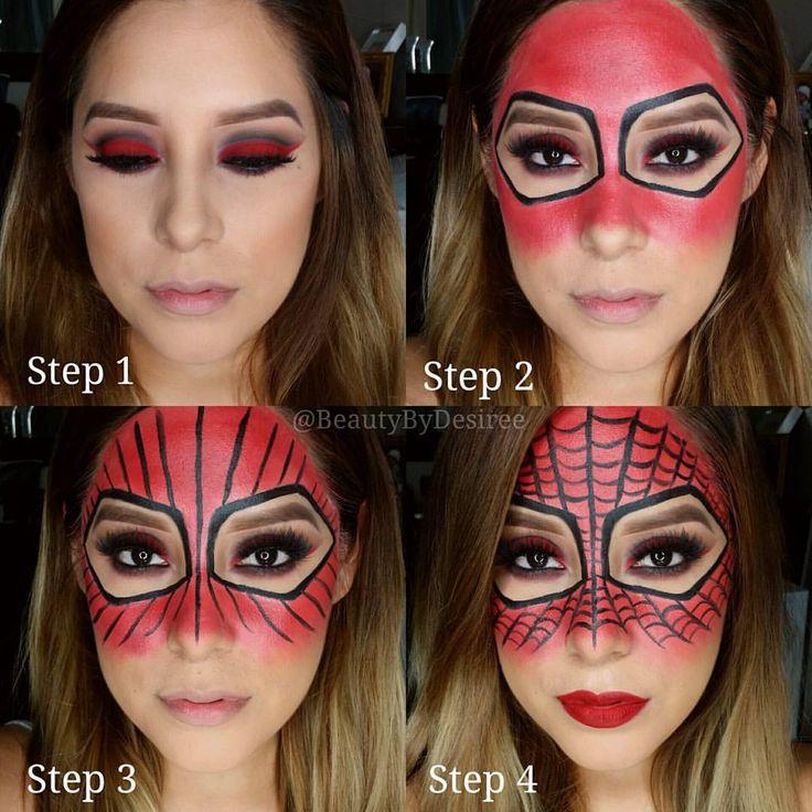 "1,991 curtidas, 223 comentários - Desirée Prieto-MUA  (@beautybydesiree) no Instagram: ""Pictorial on my Spider-Woman look... Brows: @anastasiabeverlyhills Dip Brow Pomade in Chocolate...…"""