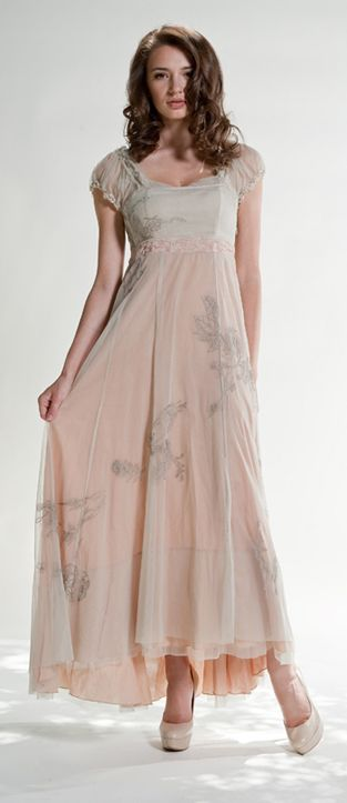 OH MY GOODNESS!!  This dress is so soft, delicate, and gentile.. it just makes me want to wear it for a walk in a beautiful garden, or to dance in the living room with my husband with the candles lit and my feet on top of his.