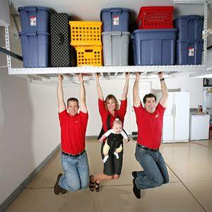 SAFERACKS OVERHEAD GARAGE STORAGE RACK SafeRacks Is The Foremost Overhead Garage  Storage System. These High Quality Storage Racks Make Your Garage A More ...