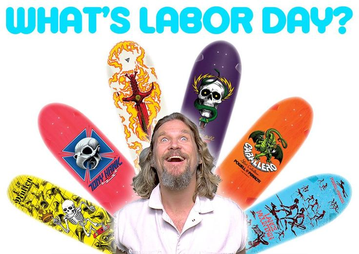 What's Labor Day?  The Big Lebowski meets The Bones Brigade: Rodney Mullen, Tony Hawk, Tommy G., Mike McGill, Steve Cabellero, & Lance Mountain    The Dark Slide   Dubuque, IA