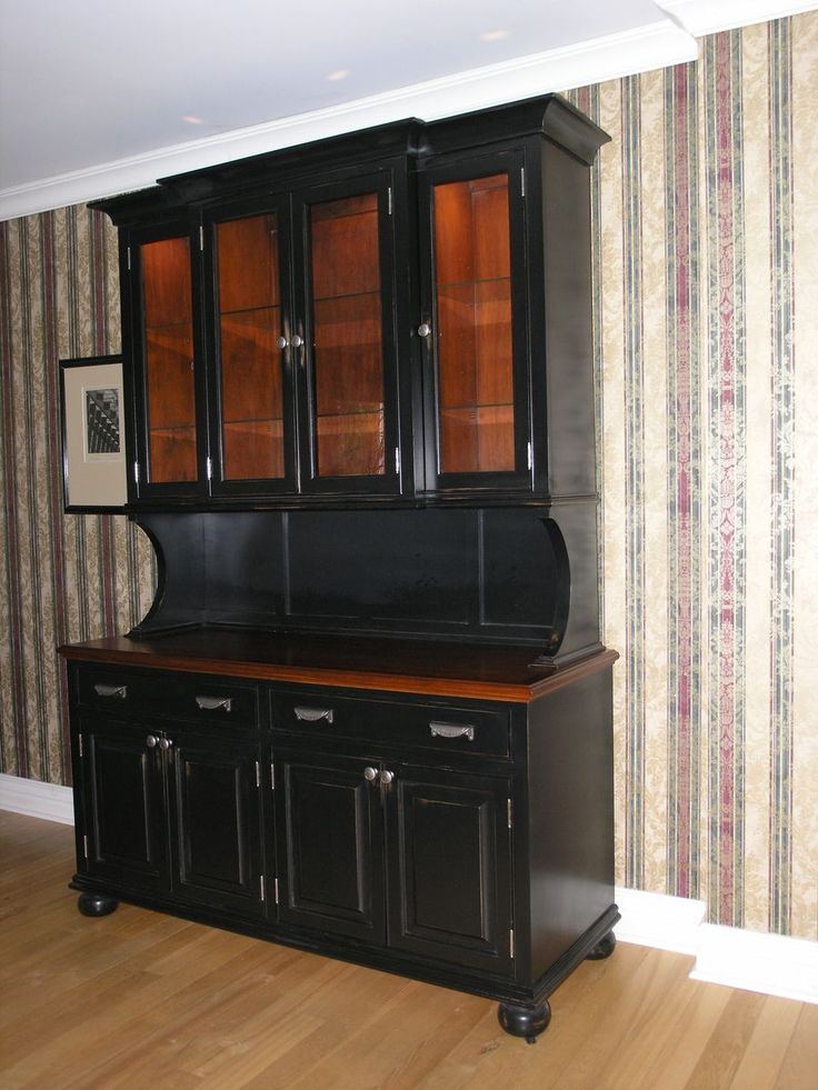images of black hutches dining room kitchen buffets hutches
