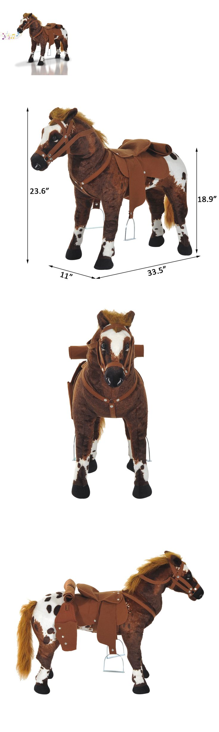 Rocking Horses 19024: Qaba Children Cowboy Standing Plush Horse Soft Ride On Toy Cuddly Pony W Sound -> BUY IT NOW ONLY: $65.99 on eBay!
