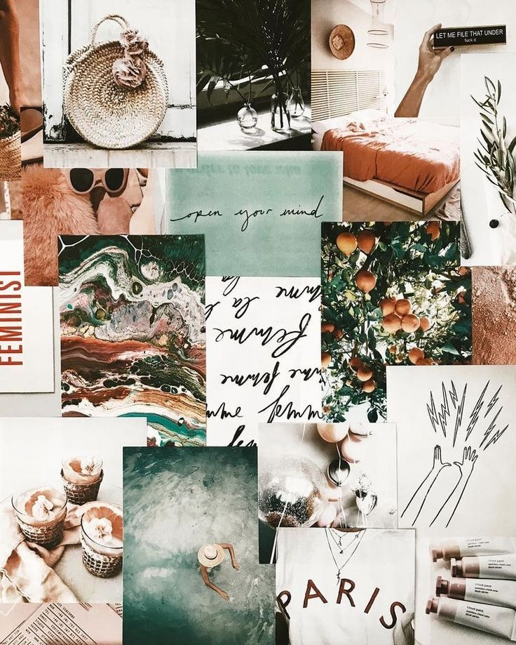 mood board and collage, gorgeous colors, design and art inspiration.