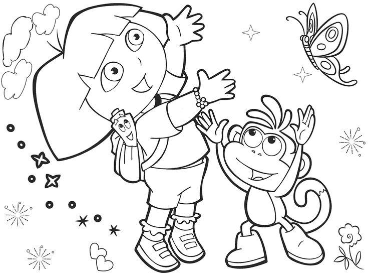 10 Mewarnai Gambar Dora The Explorer | bonikids
