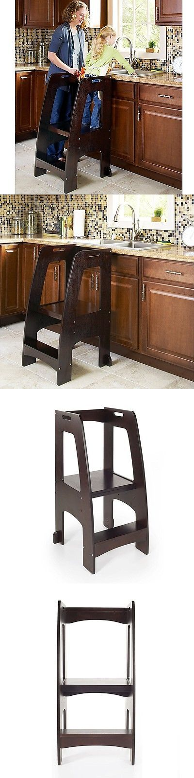 Stools 134650: Guidecraft Step Up Kitchen Helper, Espresso -Supports Up To 200 Lbs., G97327 New -> BUY IT NOW ONLY: $134.36 on eBay!