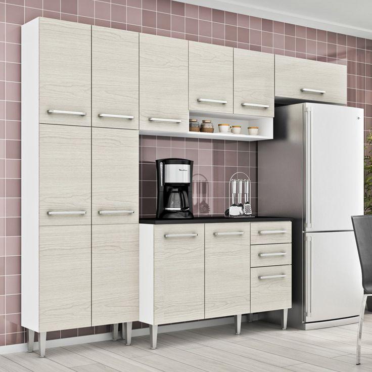 Gostou desta Cozinha Glamy 4 Peças Elis Jasmin Branco/Tirol C/ Tampo - Madesa, confira em: https://www.panoramamoveis.com.br/cozinha-glamy-4-pecas-elis-jasmin-branco-tirol-c-tampo-madesa-4787.html
